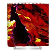 Gypsy Flame Shower Curtain
