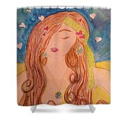 Gypsy Girl 2 Love To The World Shower Curtain