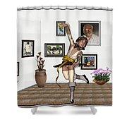 Digital Exhibartition _  Dancing Girl  Shower Curtain