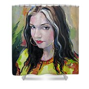 Gypsy Girl Shower Curtain