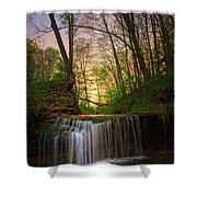 Gypsy Glen  Rd Waterfall  Shower Curtain