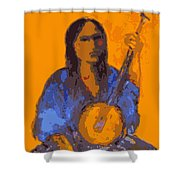 Gypsy Music Shower Curtain by Johanna Elik