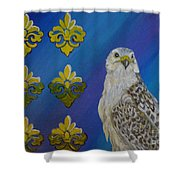 Gyr Falcon Shower Curtain
