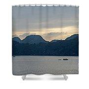 Halong Bay Sunset  Shower Curtain