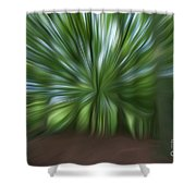 Haagse Bos. Oil Painting Effect. Shower Curtain