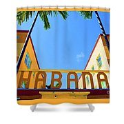 Habana Condos Shower Curtain