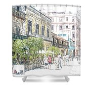 Habana Vieja Streets  Shower Curtain