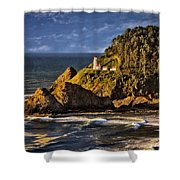 Haceta Head Light 2 Shower Curtain
