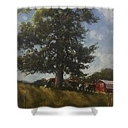 Hackberry Shade Shower Curtain