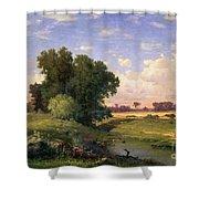 Hackensack Meadows - Sunset Shower Curtain