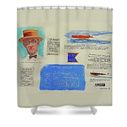Hacker Boat Poster Shower Curtain