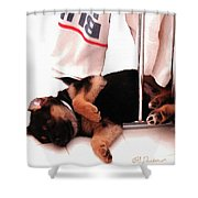 Had A Ruff Day Shower Curtain