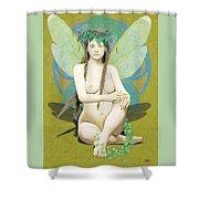 Hada Amarilla Shower Curtain