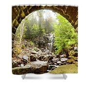 Hadlock Falls Under Carriage Road Arch Shower Curtain
