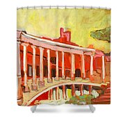Hadrian's Villa Shower Curtain