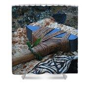 hawaiian adze. hafted hawaiian adze wailea maui hawaii shower curtain o