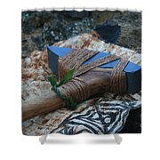 Hafted Hawaiian Adze Wailea Maui Hawaii Shower Curtain
