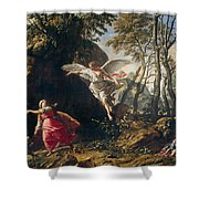 Hagar And Ishmael In The Wilderness Shower Curtain