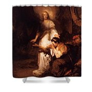 Hagar And The Angel 1645 Shower Curtain
