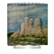 Hagar Qim Domination Shower Curtain