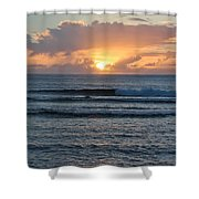 Hagatna Bay Sunset Shower Curtain