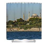 Hagia Sophia And Blue Mosque Shower Curtain