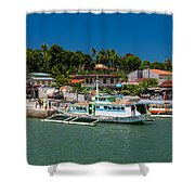 Hagnaya's Port And Fishing Village Shower Curtain