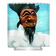 Hahoe Mask Shower Curtain