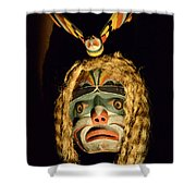 Haida Carved Wooden Mask 4 Shower Curtain