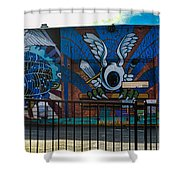 Haight Ashbury Mural Shower Curtain