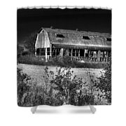 Hainesville Barn B/w Shower Curtain