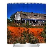 Hainesville Barn Color Shower Curtain