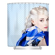 Hair And Beauty Fashion Portrait Shower Curtain