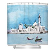 Haji Ali Mumbai Shower Curtain