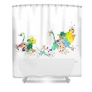 Hakuna Matata 3 Watercolor Art Print  Shower Curtain