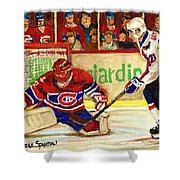 Halak Makes Another Save Shower Curtain by Carole Spandau