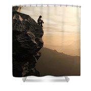 Halcyon Shower Curtain by Cynthia Decker