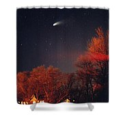 Hale-bopp Comet Shower Curtain