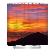 Haleakala Sunrise Colors IIi Shower Curtain