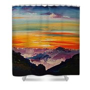 Haleakala Volcano Sunrise In Maui      101 Shower Curtain