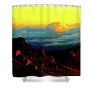 Halekala Sunrise Shower Curtain