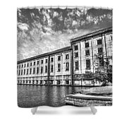 Hales Bar Dam B W Tennessee Valley Authority Tennessee River Art Shower Curtain