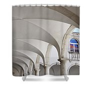 Half Arched Portal Of The Minorite Monastery Cloister Attached T Shower Curtain