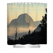 Half Dome And Fog At Olmsted Point In Yosemite Shower Curtain