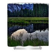 Half Dome At Sunrise Shower Curtain