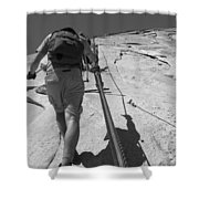 Half Dome Cables Shower Curtain