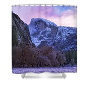 Half Dome Fall And Snow Shower Curtain