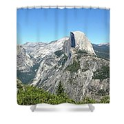 Half Dome From Inspiration Point Shower Curtain