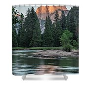 Half Dome In Evening Light Shower Curtain