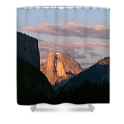 Half Dome Mountain At Sunset, Yosemite Shower Curtain